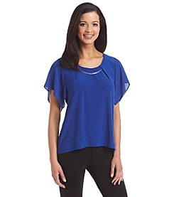 Notations® Hardware Scoop Neck Top