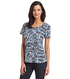 Notations® Abstract Print Tee