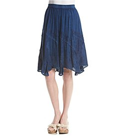 Studio West Short Ruffle Hem Skirt