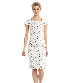 Adrianna Papell® Polka Dot Sheath Dress