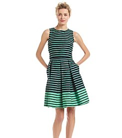 Taylor Dresses Striped Popover Dress