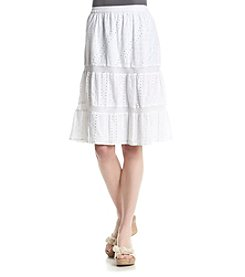 Studio West Tiered Eyelet Skirt