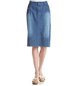 Studio West Denim Braid Pocket Skirt