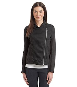 Calvin Klein Performance Ribbed Moto Jacket