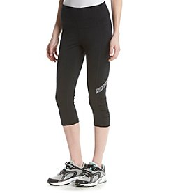 Calvin Klein Performance Black Spacedye Trim Crop Pants