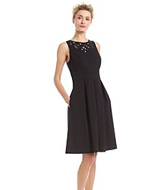 Sangria™ Cut Out Neckline Scuba Dress