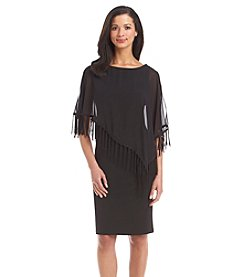 R&M Richards® Fringe Trim Popover Dress