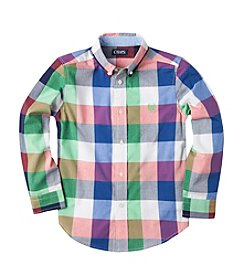 Chaps® Boys' 2T-7 Long Sleeve Plaid Button Down Shirt
