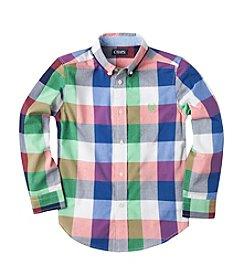 Chaps® Boys' 2T-7 Long Sleeve Plaid Button Down Shirt