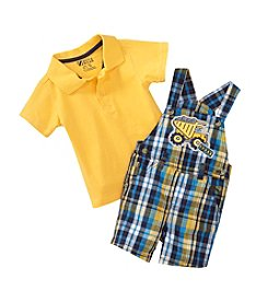 Nannette® Baby Boys' 2-Piece Shirt And Dumptruck Overalls Set