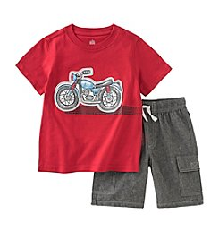 Kids Headquarters® Baby Boys' 12-24 Month Motorcycle Tee And Chambray Short Set