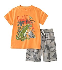 Kids Headquarters® Baby Boys' 12-24 Month Blast From The Past Tee And Camo Short Set