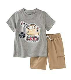 Kids Headquarters® Baby Boys' 12-24 Month Tractor Tee And Short Set