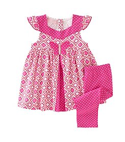 Kids Headquarters® Baby Girls' 12-24 Month Geo Tunic And Dot Leggings Set