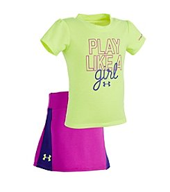 Under Armour® Baby Girls' Play Like A Girl Tee And Skirt Set
