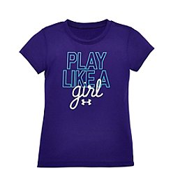 Under Armour® Baby Girls' Play Like A Girl Tee