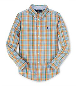 Ralph Lauren Childrenswear Boys' 8-20 Long Sleeve Plaid Button Down Shirt