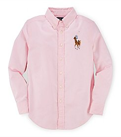 Ralph Lauren Childrenswear Boys' 8-20 Long Sleeve Oxford Button Down Shirt