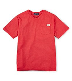Ralph Lauren Childrenswear Boys' 8-20 Short Sleeve Pocket Tee