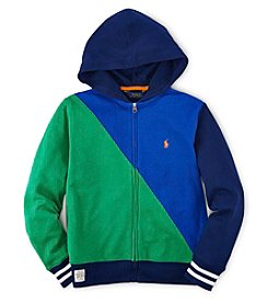 Ralph Lauren Childrenswear Boys' 8-20 Diagonal Colorblock Hoodie