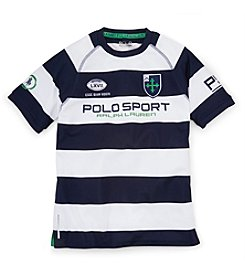 Ralph Lauren Childrenswear Boys' 8-20 Short Sleeve Striped Rugby Tee