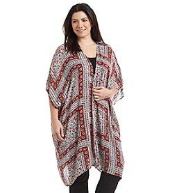 Ruff Hewn Plus Size Printed Kimono
