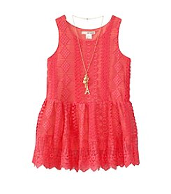 Belle du Jour Girls' 7-16 Sleeveless Lace Tunic
