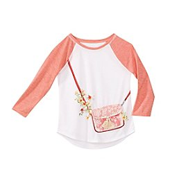 Jessica Simpson Girls' 7-16 Lace Purse Graphic Tee