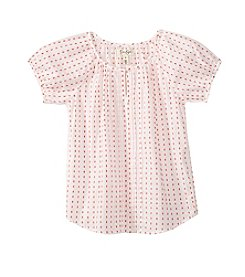 Jessica Simpson Girls' 7-16 Printed Peasant Puff Top