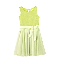 Jessica Simpson Girls' 7-16 Sleeveless Mesh Dress