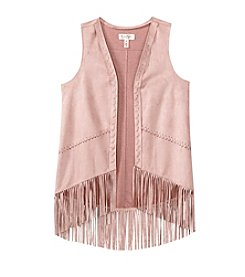 Jessica Simpson Girls' 7-16 Faux Suede Fringe Vest