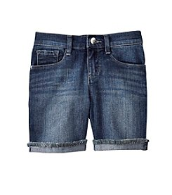 Jessica Simpson Girls' 7-16 Cuffed Denim Bermuda Shorts