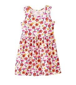 Miss Attitude Girls' 2T-6X Flamingo Printed Dress