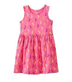 Miss Attitude Girls' 2T-6X Palm Tree Printed Dress