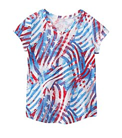 Miss Attitude Girls' 2T-6X Flag Printed Tee