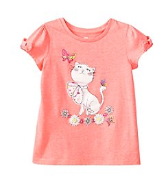 mix&MATCH Girls' 2T-6X Bow Sleeve Kitten Tee