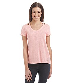 Calvin Klein Performance Cut Out Shoulder Tee