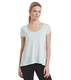 Calvin Klein Performance Melrose Stripe Cut Out Tee