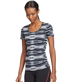 Lauren Active® Stretch-Cotton Scoop Neck Tee
