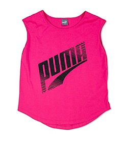 PUMA® Girls' 7-16 Cap Sleeve Scoop Hem Tee