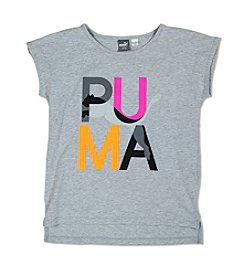 PUMA® Girls' 7-16 Short Sleeve Logo Tee