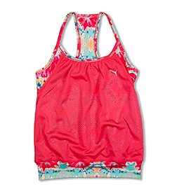PUMA® Girls' 7-16 Layered Swirl Tank