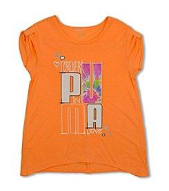 PUMA® Girls' 7-16 Short Sleeve Logo Tee