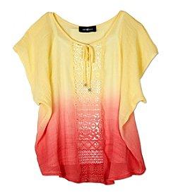 A. Byer Girls' 7-16 Tie Dye Woven Top