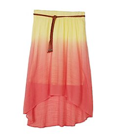 A. Byer Girls' 7-16 Tie Dye Skirt With Belt