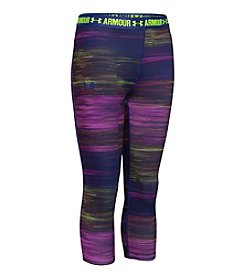 Under Armour® Girls' 7-16 HeatGear® Armour Printed Capri Leggings