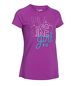 Under Armour® Girls' 7-16 Play Like A Girl Tee