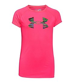 Under Armour® Girls' 7-16 Short Sleeve Big Logo Tee