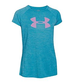 Under Armour® Girls' 7-16 Short Sleeve Novelty Big Logo Tech™ Tee