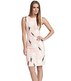 Calvin Klein Calla Lily Sheath Dress
